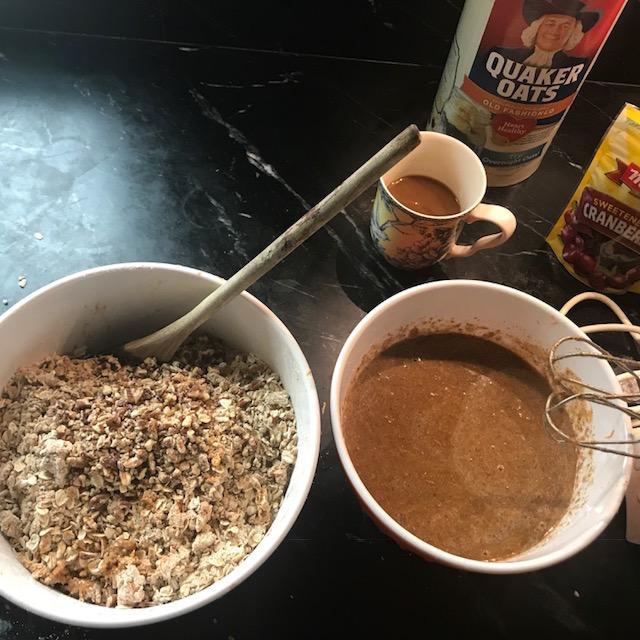 Quinoa and Carrot Cookies prep