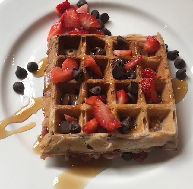 No-Fuss Belgian Waffle Batter Plus a Strawberry WOW Factor