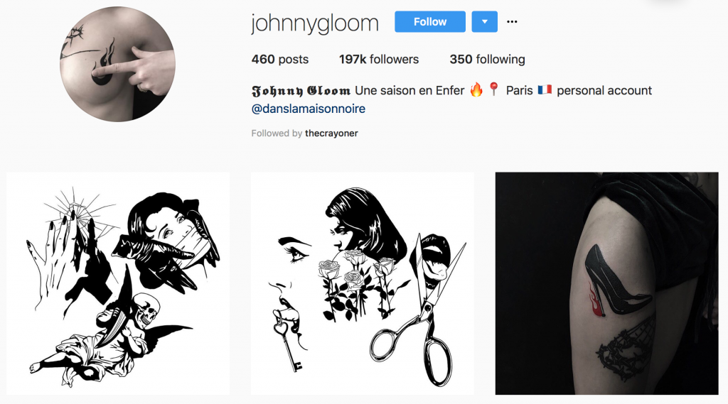 Women and Tattoos - tattoo ideas from @johnnygloom on Instagram