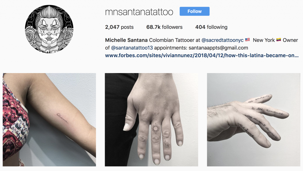 Women and Tattoos - check out Michelle Santana on Instagram @mnsantanatattoo