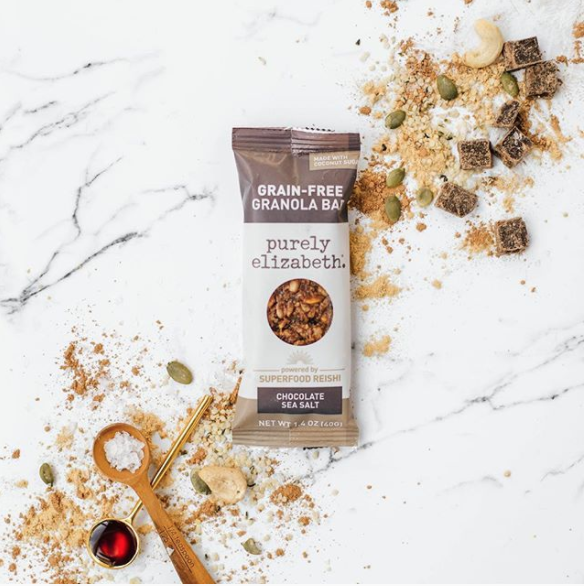 Purely Elizabeth Grain-Free Granola Bar for healthy foodies
