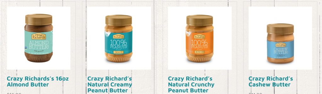 Crazy Richard's Peanut Butter company, a haven for healthy foodies