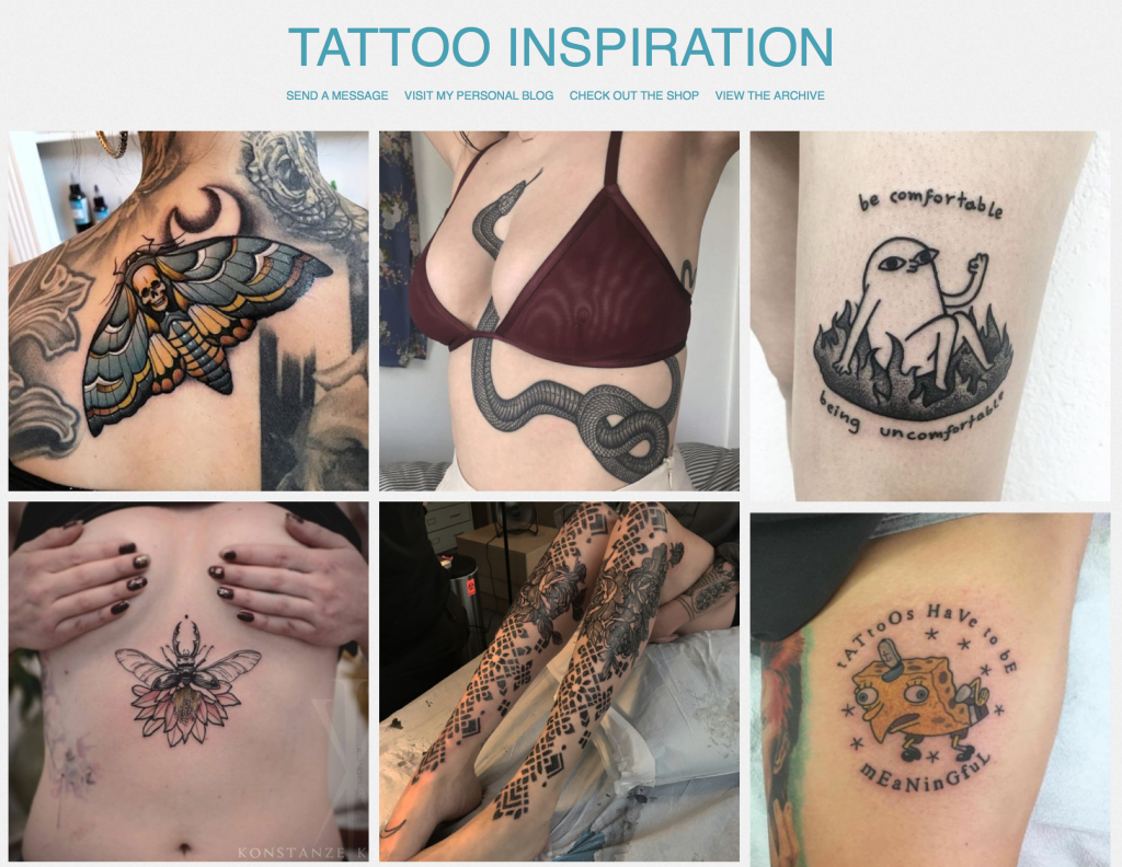 Women and Tattoos - Tumbler Tattoo Inspo