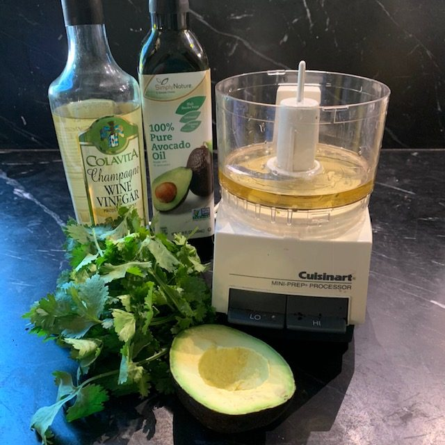 Ingredients for Cilantro Avocado Vinaigrette