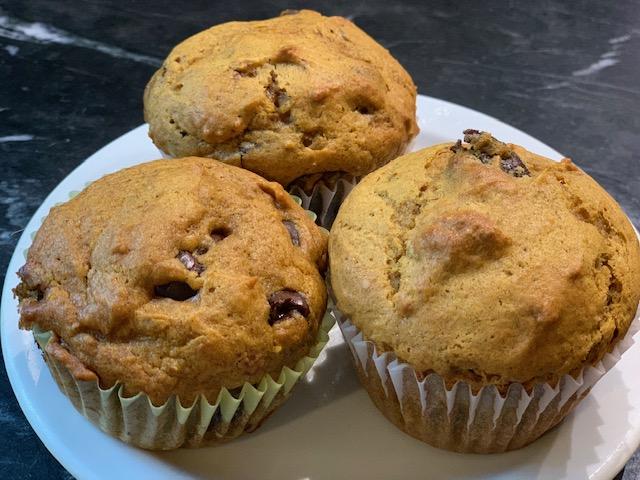Best Ever Pumpkin Dark Chocolate Muffins